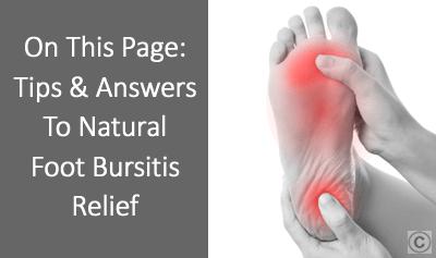 Foot bursitis Treatment - OSMO Patch