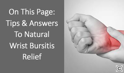 Wrist Bursitis Treatment - OSMO Patch