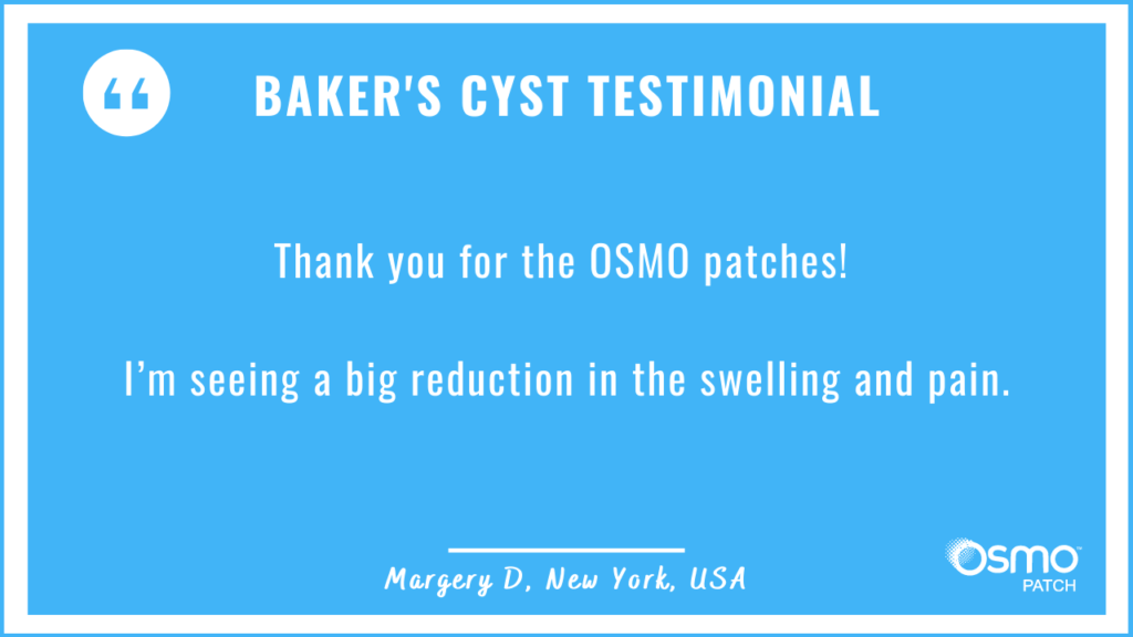 Testimonial: Big reduction in swelling by applying the OSMO Patch.