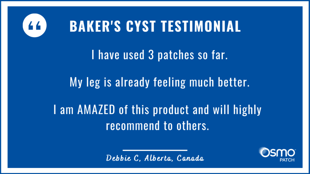 Testimonial: Amazed how OSMO Patch improved the leg pain.