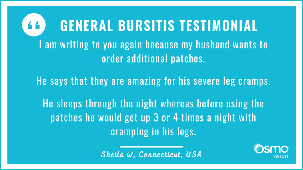 Testimonial: Amazing for my husband's severe leg cramps.