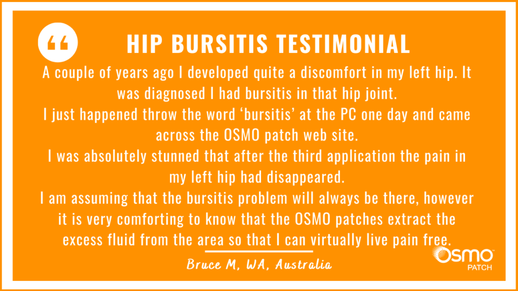 Testimonial: Stunned that hip pain due to bursitis disappeared after just 3 OSMO Patch applications.